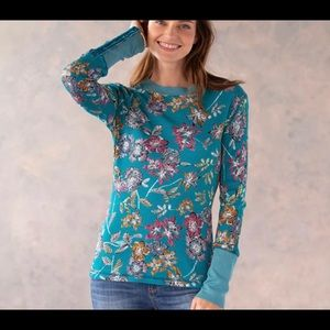 Sundance Catalog New Floral Sketch Thermal Top